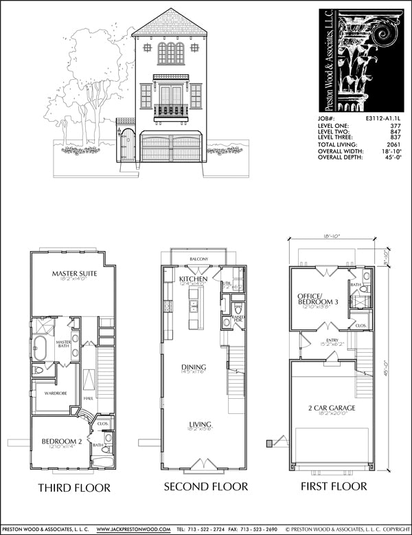 Townhouse Plan E3112 A1.1