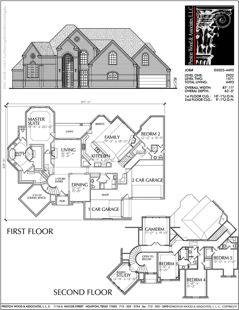 Two Story House Plan D2025