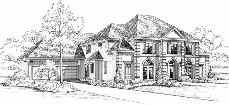 Two Story House Plan C4275