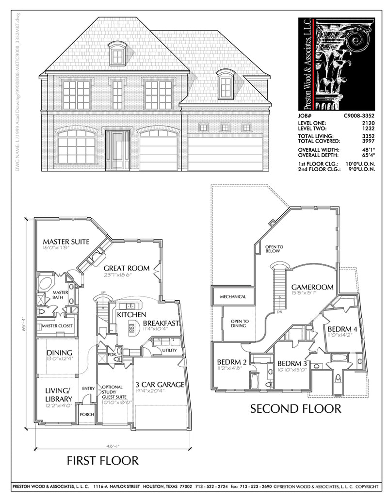 Two Story House Plan C9008