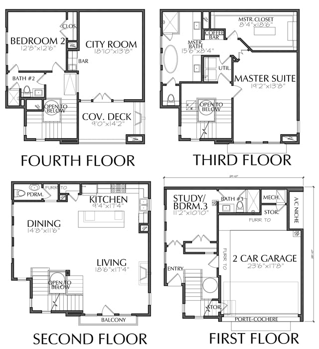 Townhouse Plan E3130 F1.1