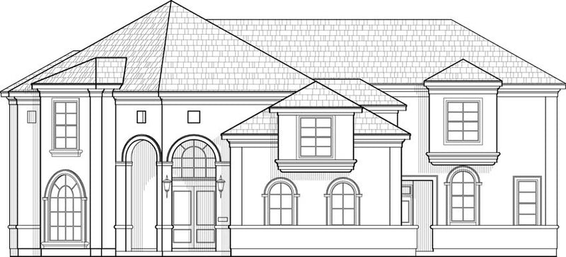 Two Story House Plan C8192