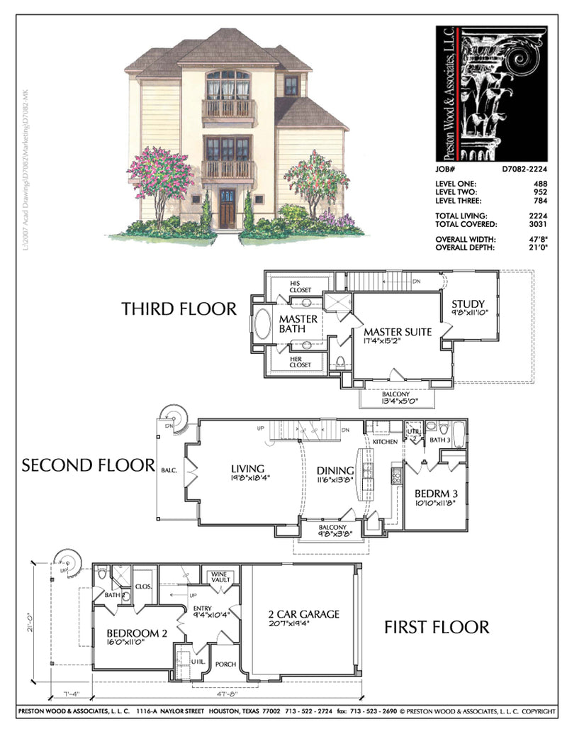 Townhouse Plan D7082