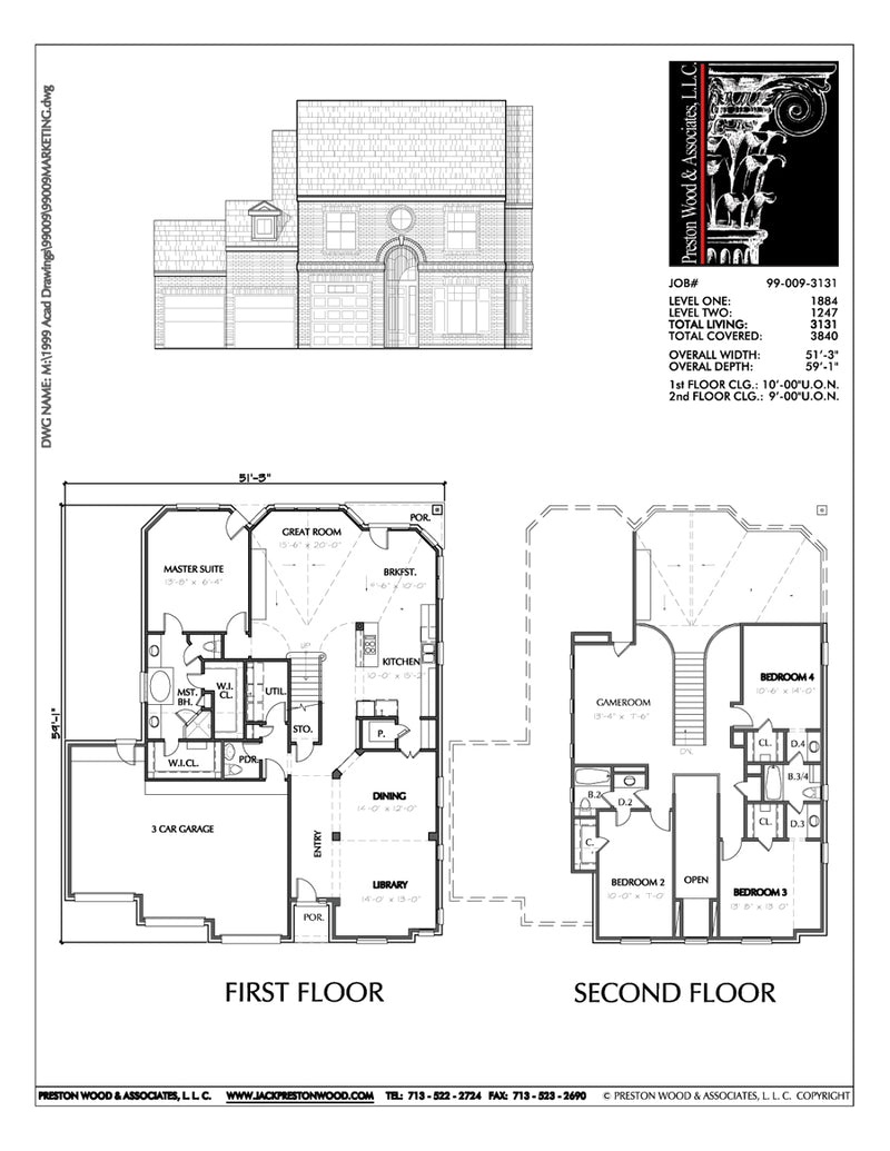 Two Story House Plan C9009