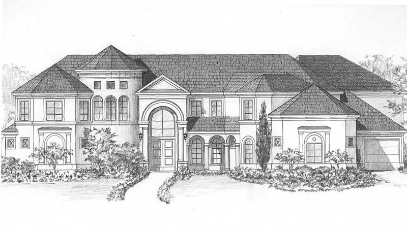 Two Story House Plan C9302
