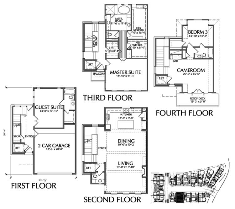 Townhouse Plan D9095 F LOT-4