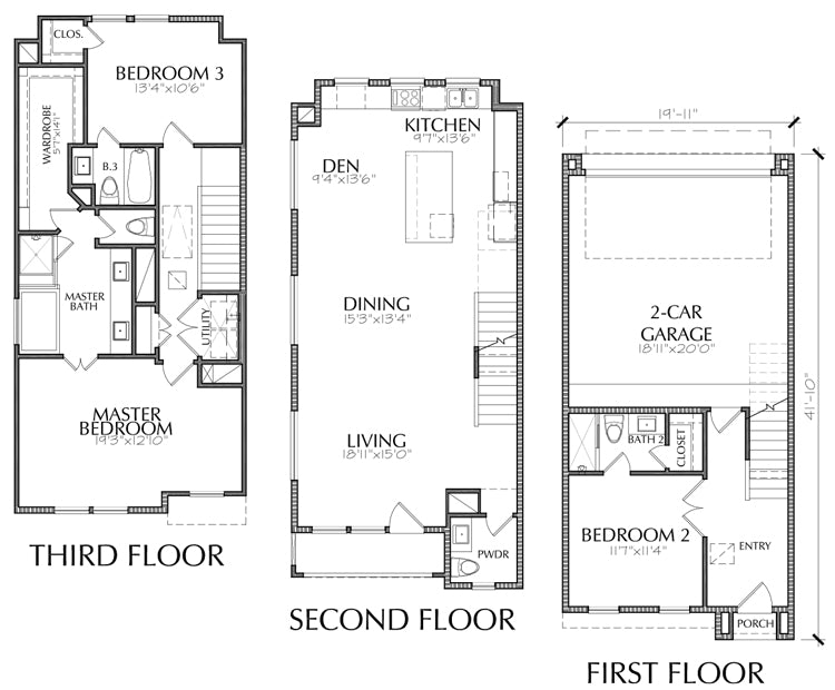 Townhouse Plan E1146 A1.1