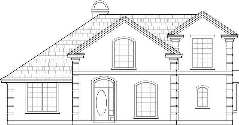 Two Story House Plan C5267