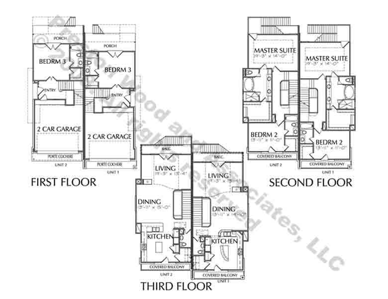Duplex Townhouse Plan D1223