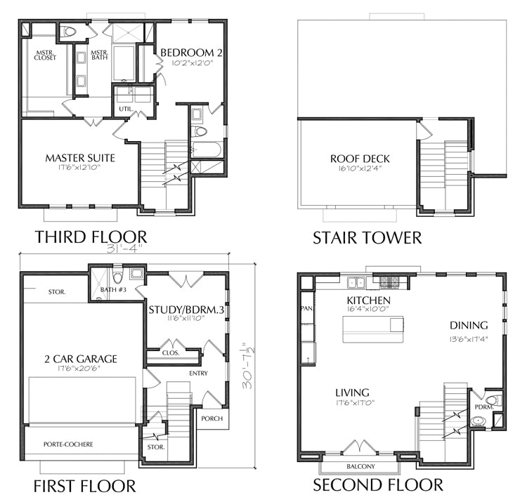 Townhouse Plan E3058 A1.1