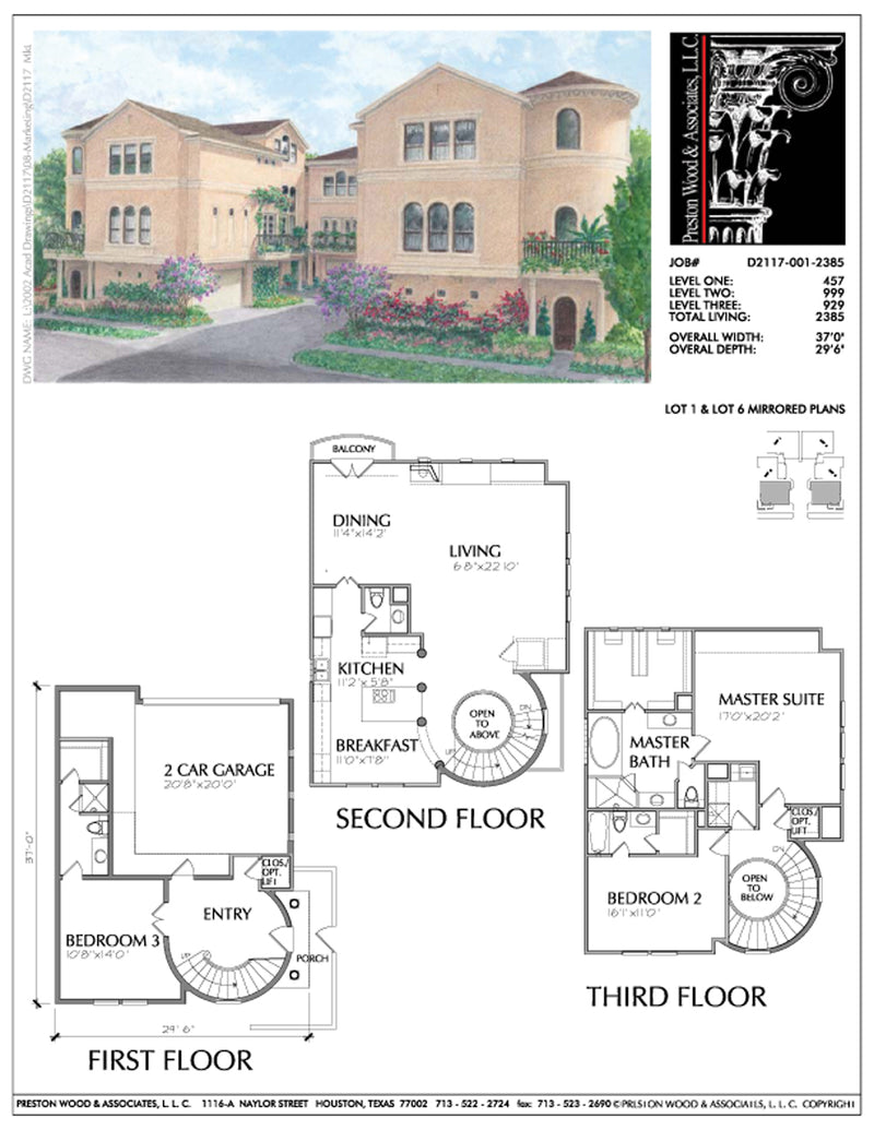Townhouse Plan D2117-001