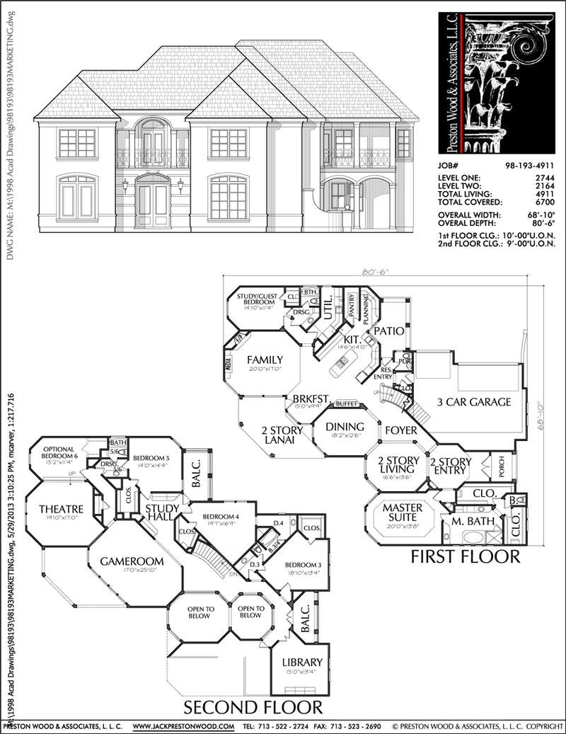 Two Story House Plan C8193