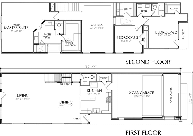 Townhouse Plan E5002 A1.1