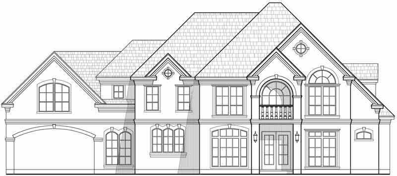 Two Story House Plan C4173