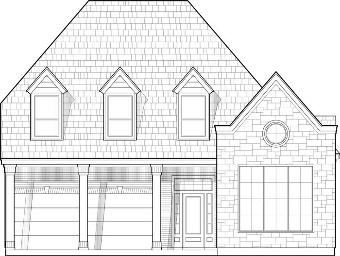 Two Story House Plan C6142