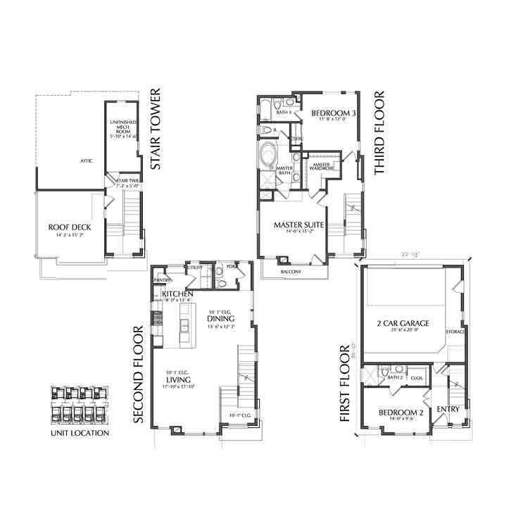 Townhouse Plan D9044 A