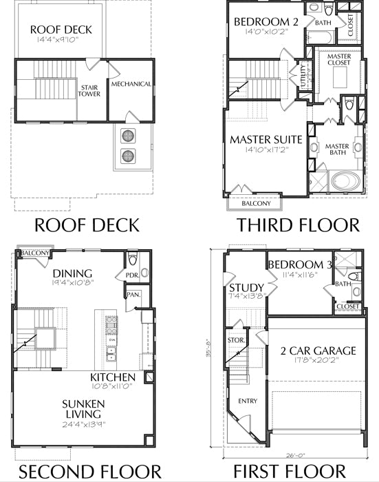 Townhouse Plan D6272 B1c