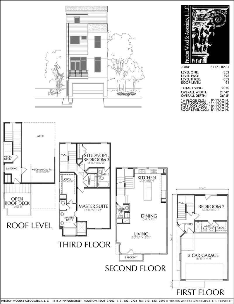 Townhouse Plan E1171 B2.1