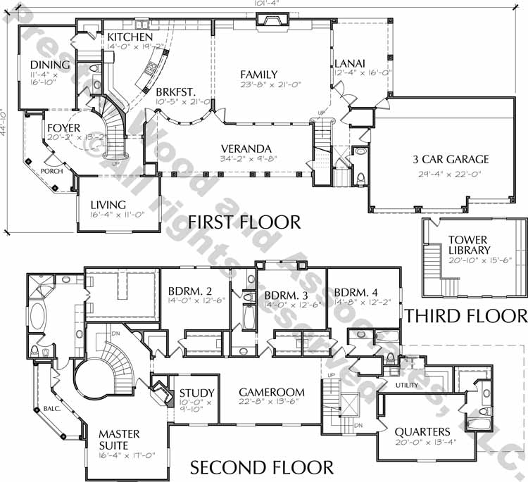 Two Story Home Plan C9061