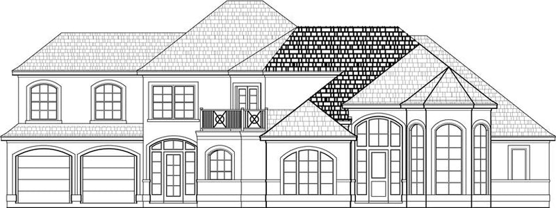 Two Story House Plan C6038