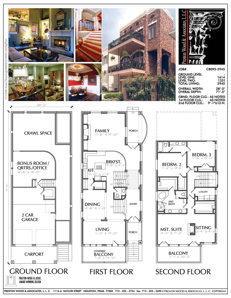 Narrow Home Plan aC8095