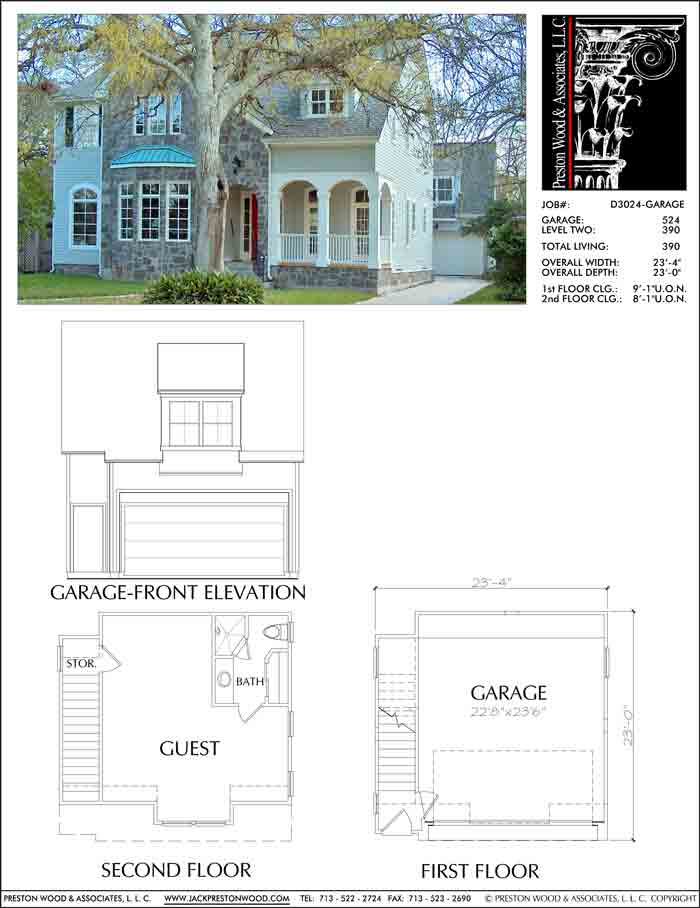 Two Story House Plan D3024
