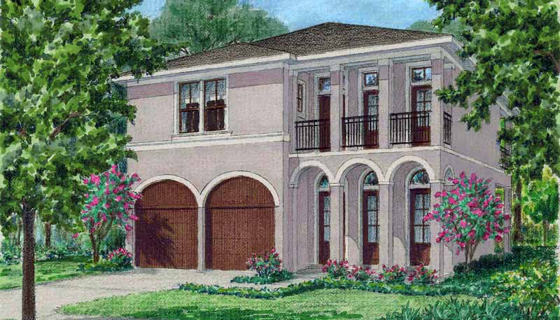 Two Story House Plan D5082