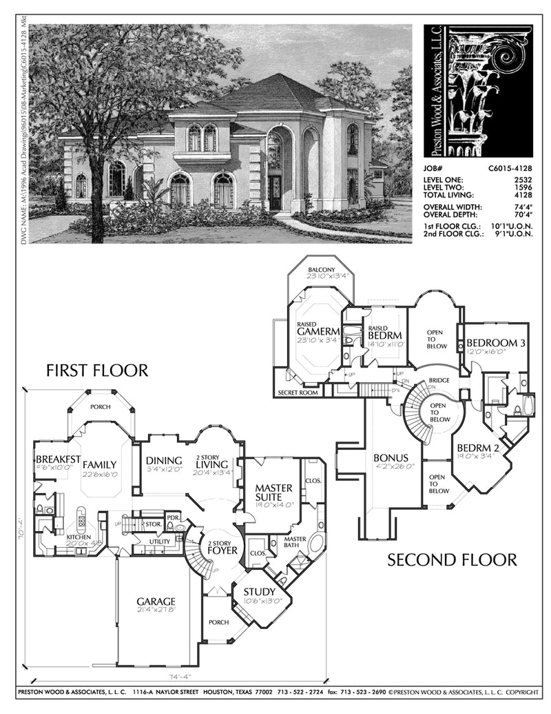 Two Story House Plan C6015