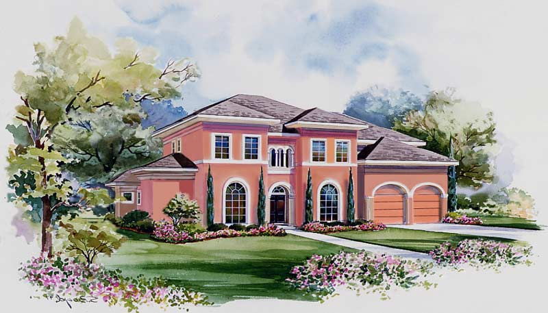 Two Story Home Plan D6246