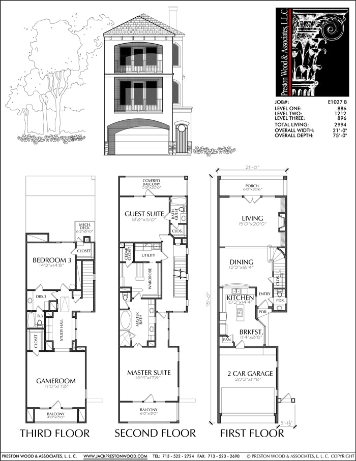 Townhouse Plan E1027 B