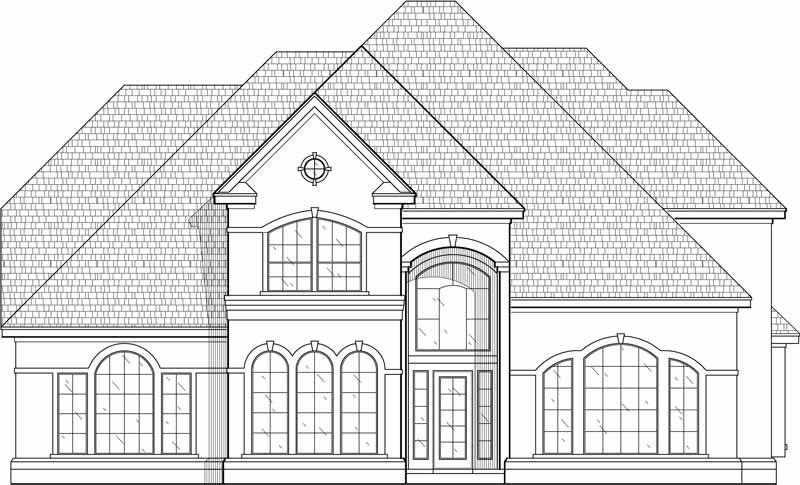 Two Story House Plan C5102