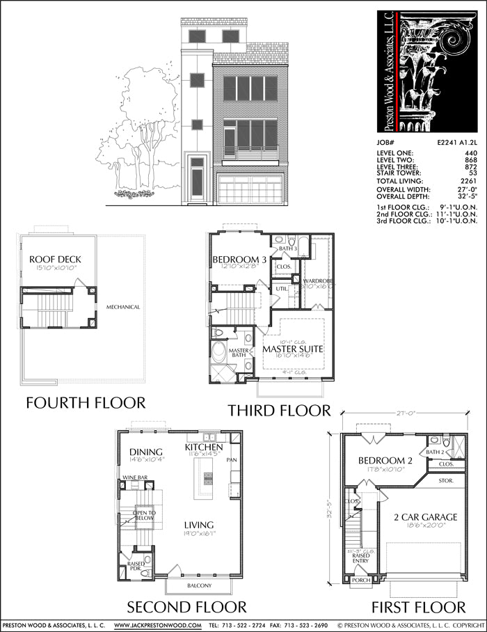 Townhouse Plan E2241 A1.2