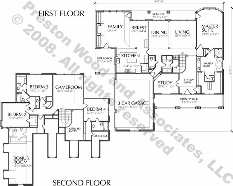 Two Story Home Plan C6309