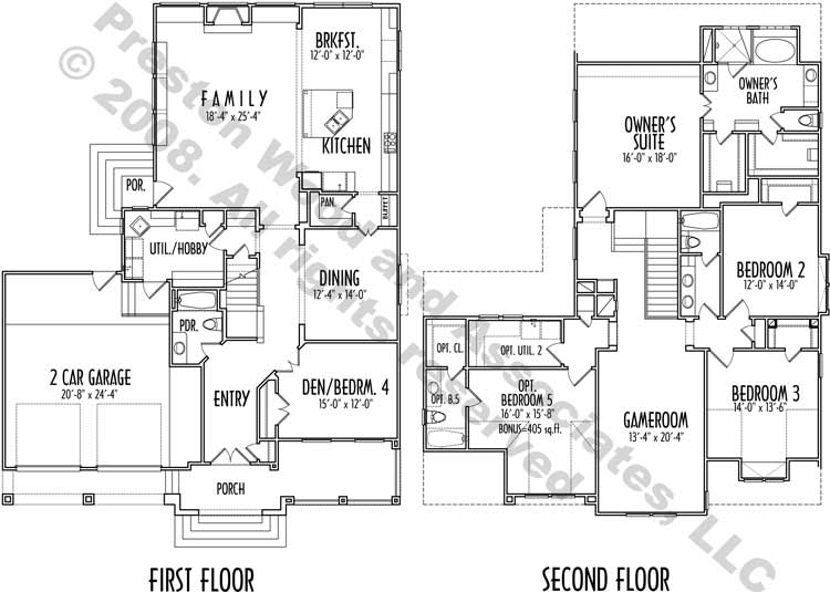 Two Story House Plan D0098
