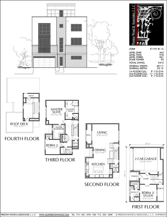 Townhouse Plan E1197 B1.1