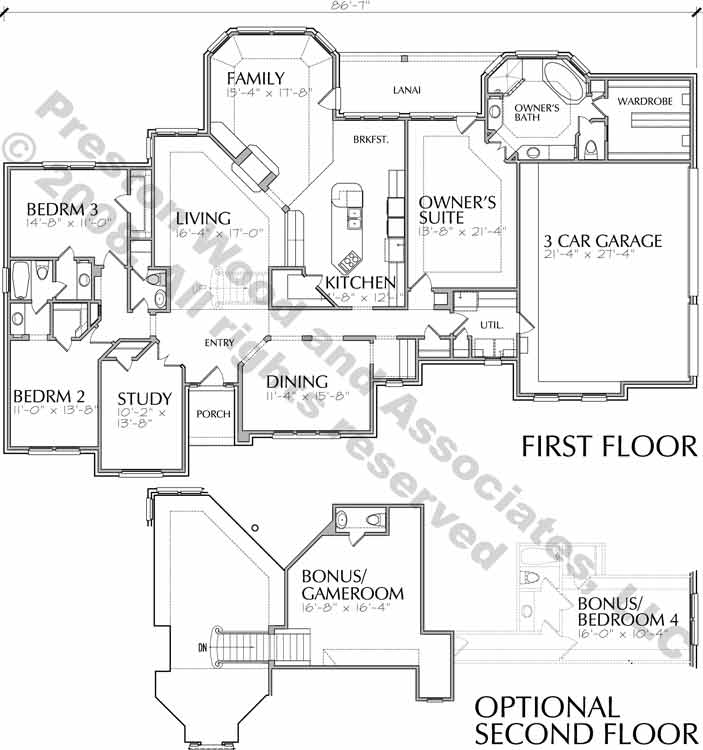 One Story House Plan D0034