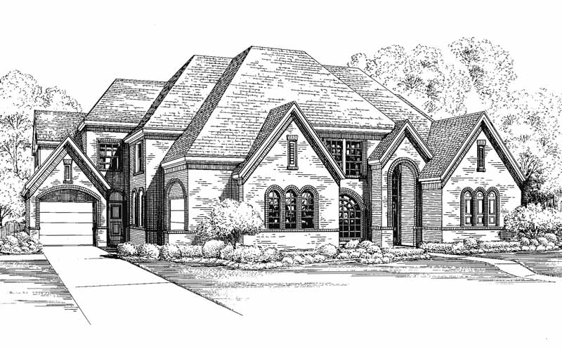 Two Story House Plan C6234