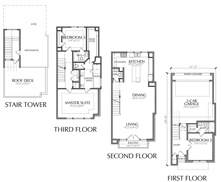 Townhouse Plan E2160 A2.1