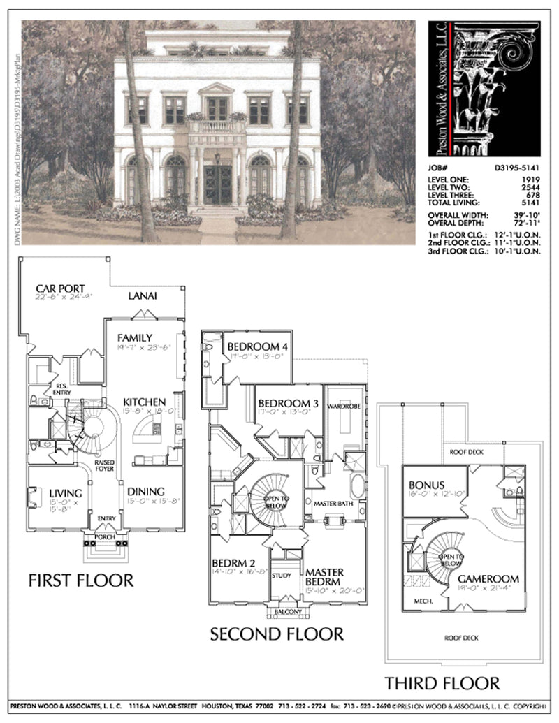 Empty Nester Home Plan aD3195