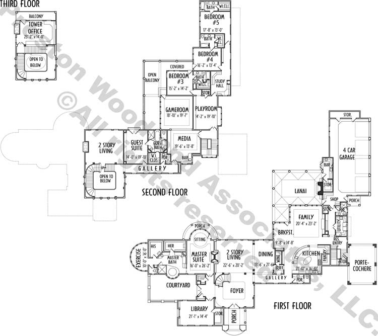 Two Story House Plan C8177