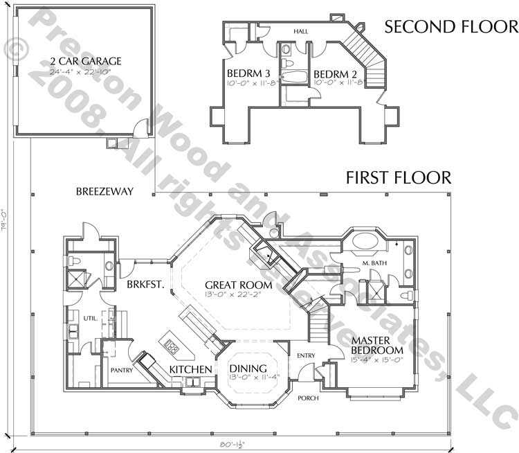 Two Story House Plan C5003