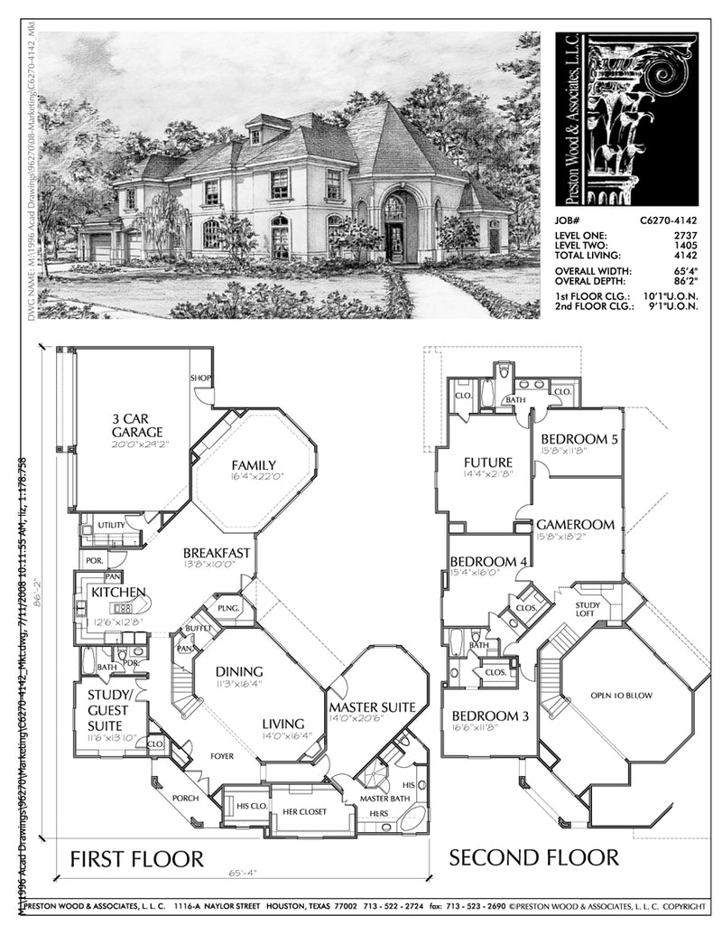 Two Story House Plan C6270 & C7069