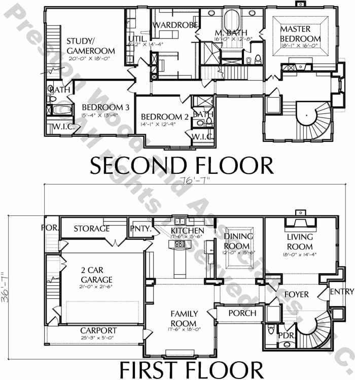 Urban House Plan D7146