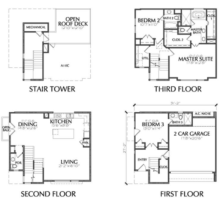 Townhouse Plan E2181 A1.2
