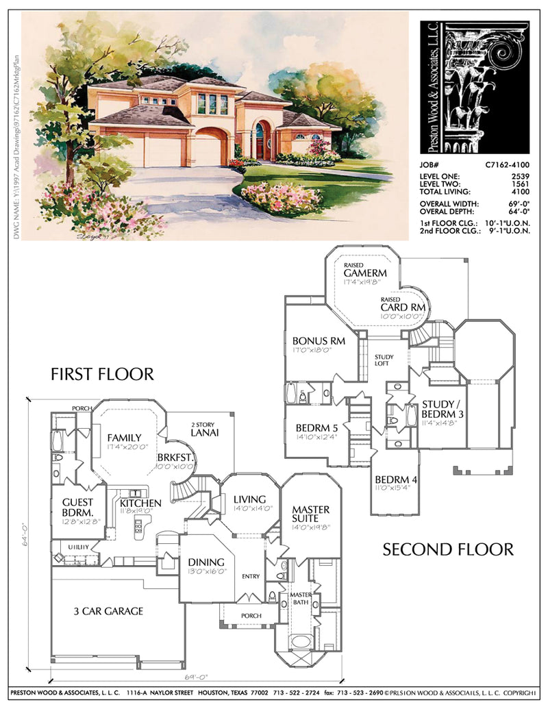 Two story House Plan C7162