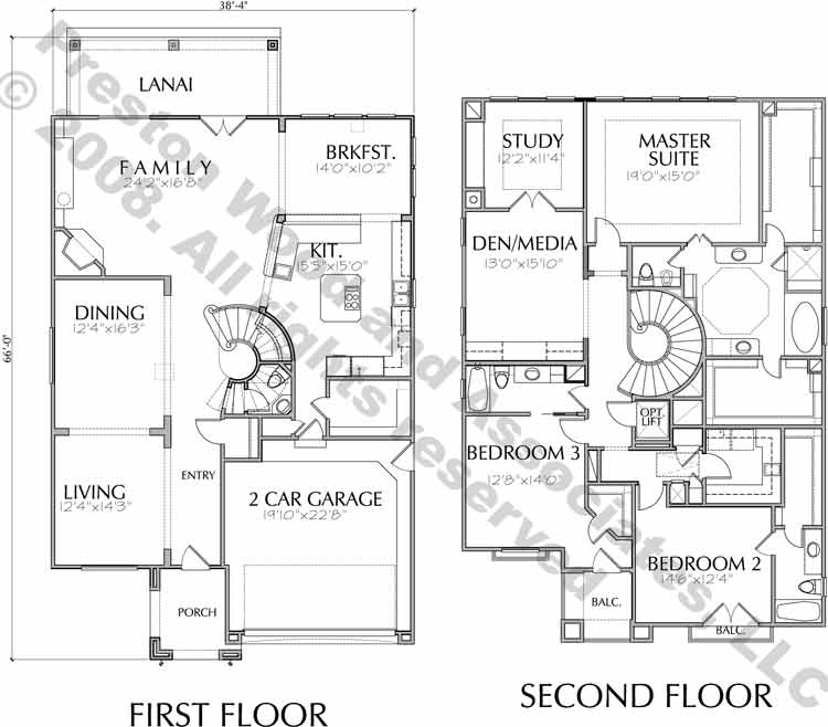 Two Story Home Plan D5091
