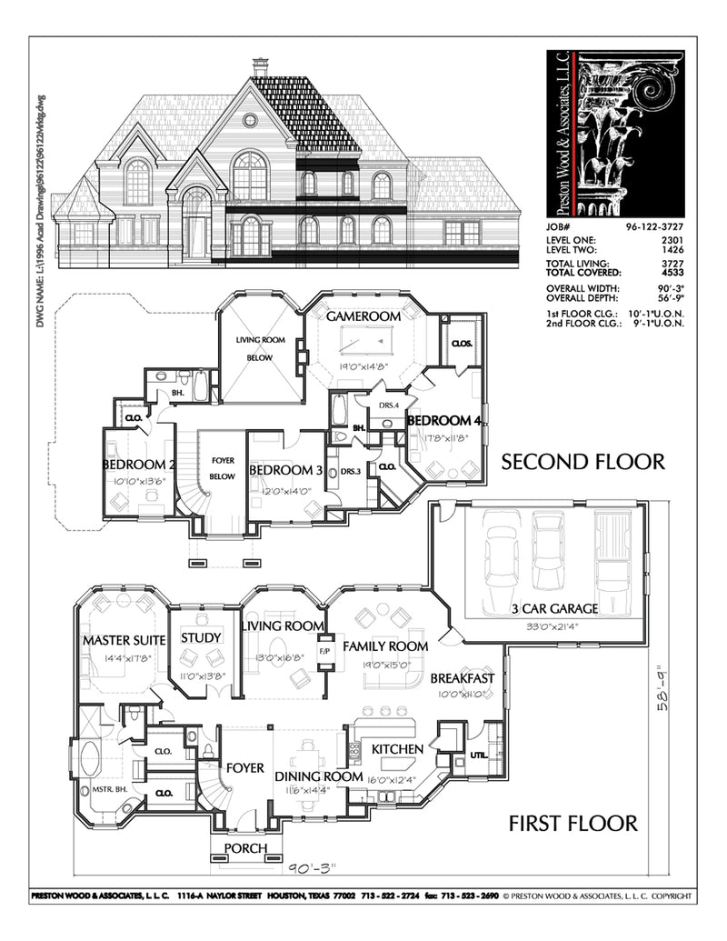 Two Story House Plan C6122