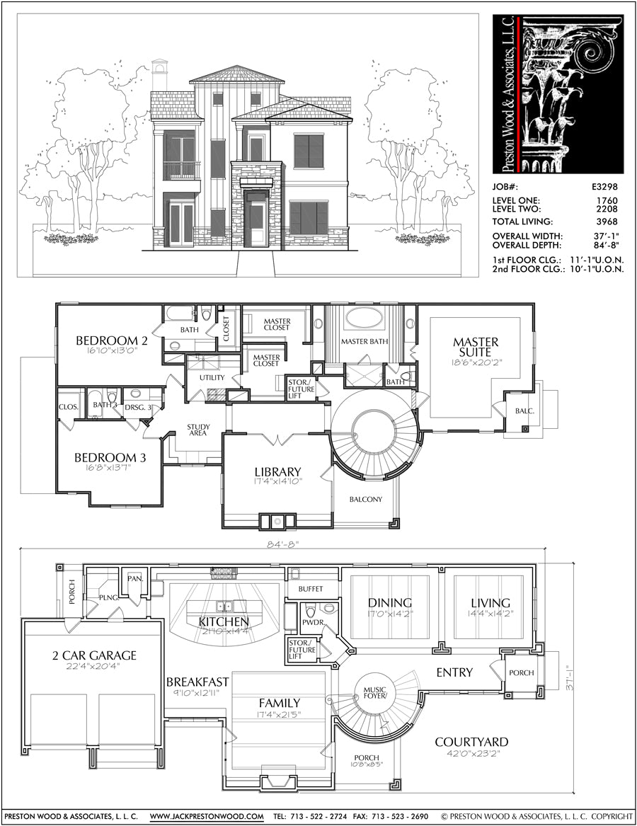Best 2 Story House Plans, Two Story Home Blueprint Layout
