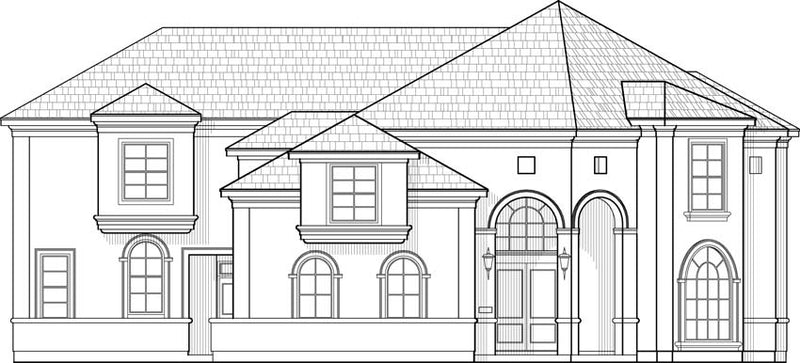 Two Story House Plan C7307
