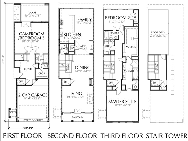 Townhouse Plan E2103 A1.1L